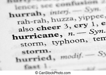 Dictionary Series - Hurricane