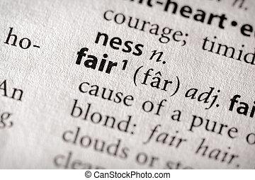 Dictionary Series - Philosophy: fair - Selective focus on...
