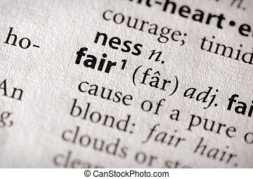 """Selective focus on the word """"fair"""". Many more word photos in my portfolio..."""