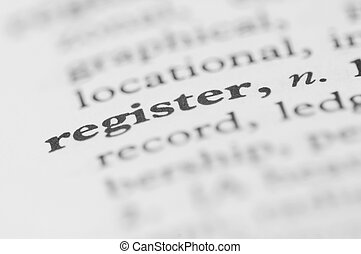 Dictionary Series - Register