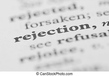 Dictionary Series - Rejection