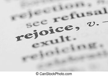 Dictionary Series - Rejoice
