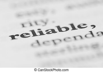 Dictionary Series - Reliable