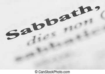 Dictionary Series - Sabbath