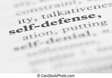 Dictionary Series - Self-defense