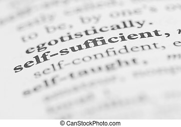 Dictionary Series - Self-sufficient