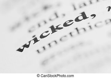 Dictionary Series - Wicked