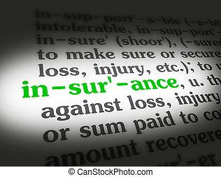 dictionnaire, assurance