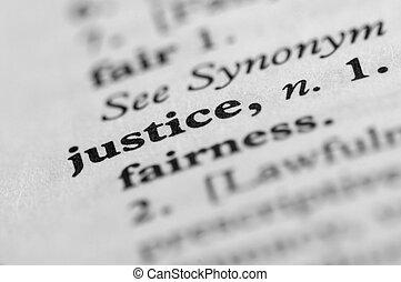 dictionnaire, série, -, justice