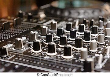 didżej, wspornik, dom, deejay, cd, ibiza, mp4, muzyka, biurko, mieszanie, partia, nightclub