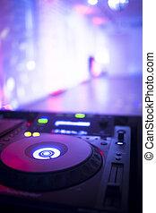 didżej, wspornik, dom, nightclub, ibiza, muzyka, biurko, mieszanie, partia