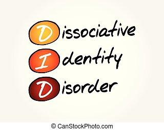 did, -, acroniem, dissociative, stoornis, identiteit