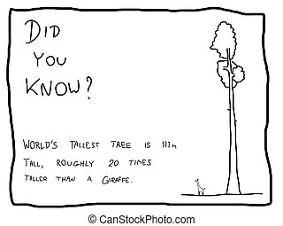 Did you know - Fun fact trivia - useful doodle illustration...