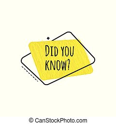 Did you know - fun trivia banner with geometric style