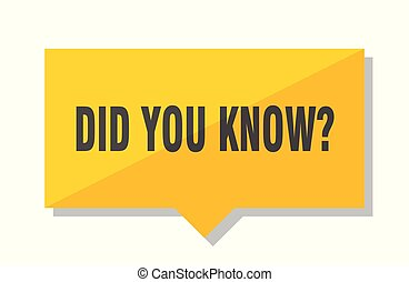 did you know price tag - did you know yellow square price...