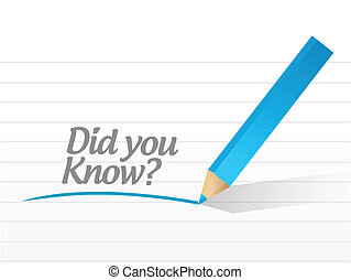 did you know question illustration design over a white...