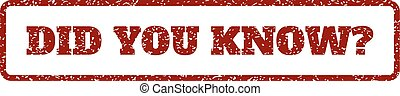 Did You Know Question Rubber Stamp