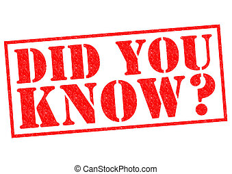 DID YOU KNOW? red Rubber Stamp over a white background.