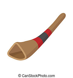 didgeridoo, australiano, strumento musicale