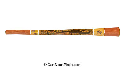 Didgeridoo or didjeridu, didge isolated on white background