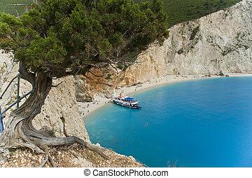 Porto Katsiki - Die Bucht von Porto Katsiki auf der Insel...
