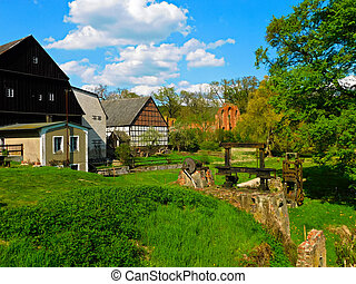 Die Klosterm?hle - The monastery mill with the ruins of the...