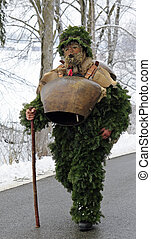 Die Wald Klause - St Sylvester mummers (Silvesterklausen)...