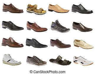 dieciséis, hombre, shoes