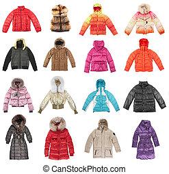 dieciséis, invierno, chaquetas