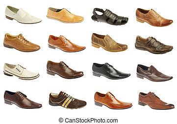 dieciséis, zapatos, hombre