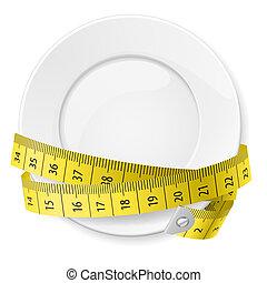 dieet, concept.