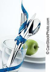 dieet, voor, gezonde