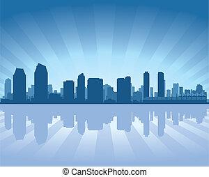 diego, skyline, san