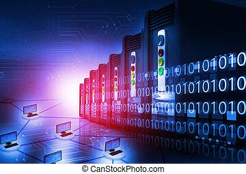 diener bauernhof, mit, computernetzwerk