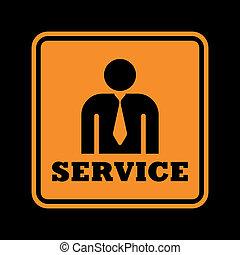 dienst, pictogram