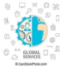 diensten, globaal, concept