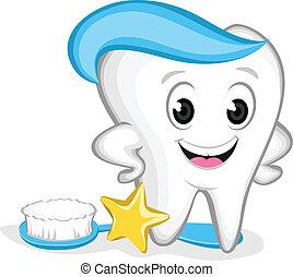 diente, carácter