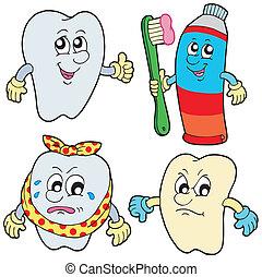 diente, colección, 1