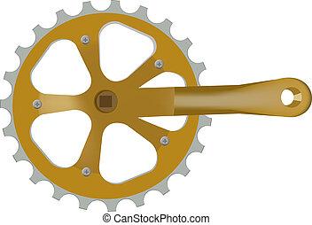 diente de rueda de cadena, bicicleta