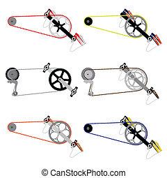 diente de rueda de cadena, cadena de bicicleta