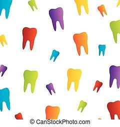 diente, papel pintado, para, dentista
