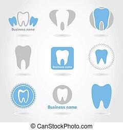 diente, un, icono