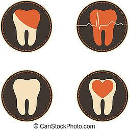 dientes, asistencia médica, iconos