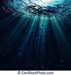 diep, blauwe , zee, abstract, marinier, achtergronden, voor, jouw, ontwerp