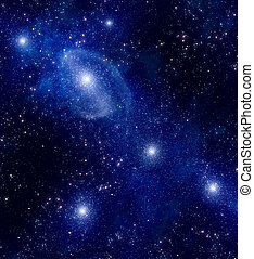 diep, melkweg, ruimte, buitenst, starry, nebula