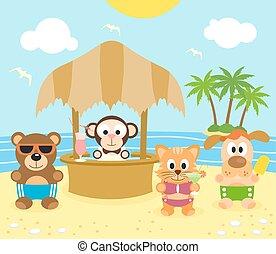 dier, achtergrond, zomer, 16