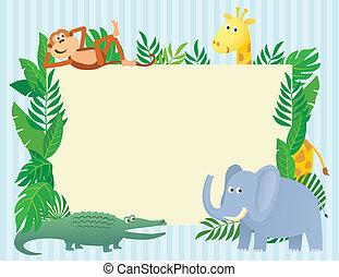 dier, illustratie, themed