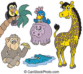 dieren 2, set, afrikaan
