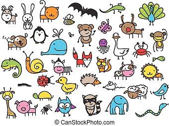 dieren, werkjes, kind's