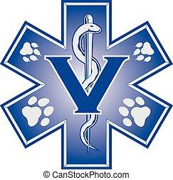 dierenarts, noodgeval, medisch, symb